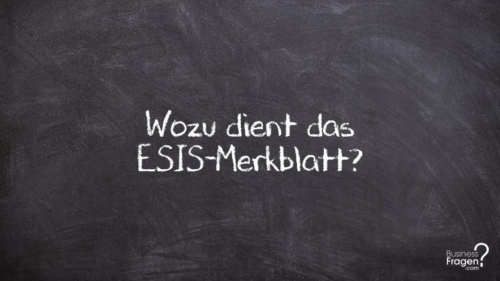 ESIS-Merkblatt