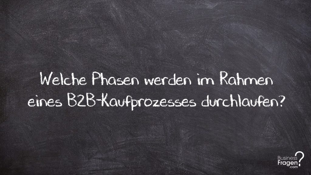 Phasen B2B-Kaufprozess
